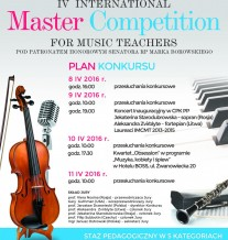 IV International Master Competition for Music Teachers
