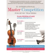 II International Master Competition For Music Teachers