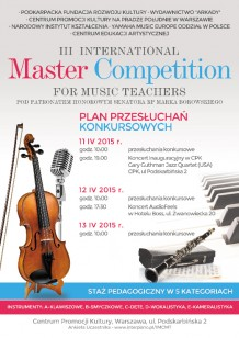 III International Master Competition For Music Teachers